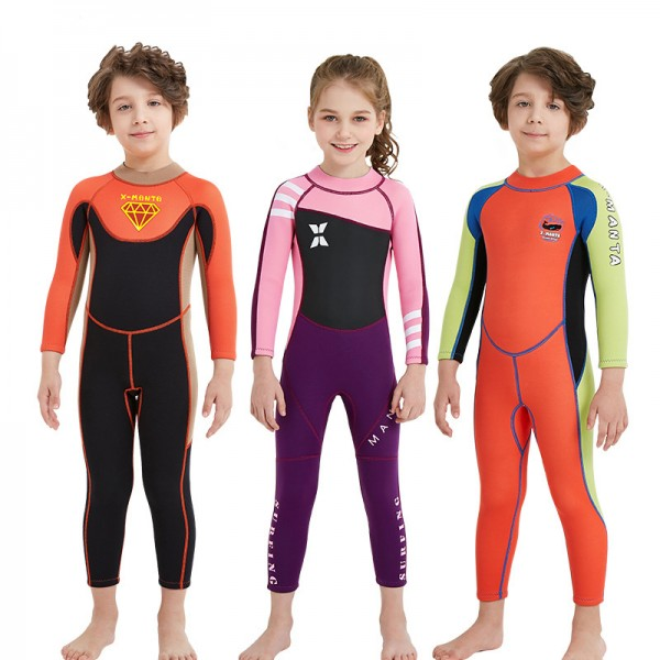 Youth Kids 2.5MM Wetsuits Full Diving Suit For Boys & Girls