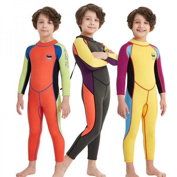 Boys Long Sleeve Warm Full Body Wetsuit 2.5MM SCR Neoprene
