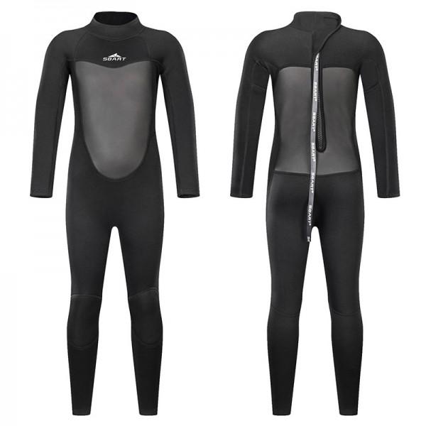 2MM Black Full Diving Suit SCR Neoprene Wetsuits For Teens
