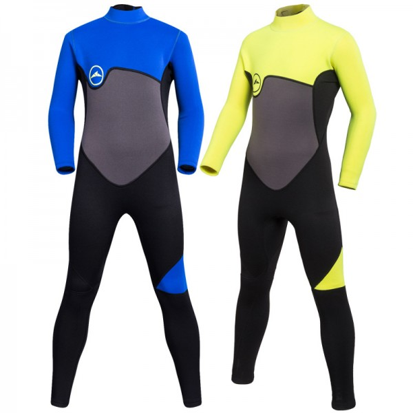 2MM Boys Full Body Warm Diving Suit SCR Neoprene Wetsuits For Teens