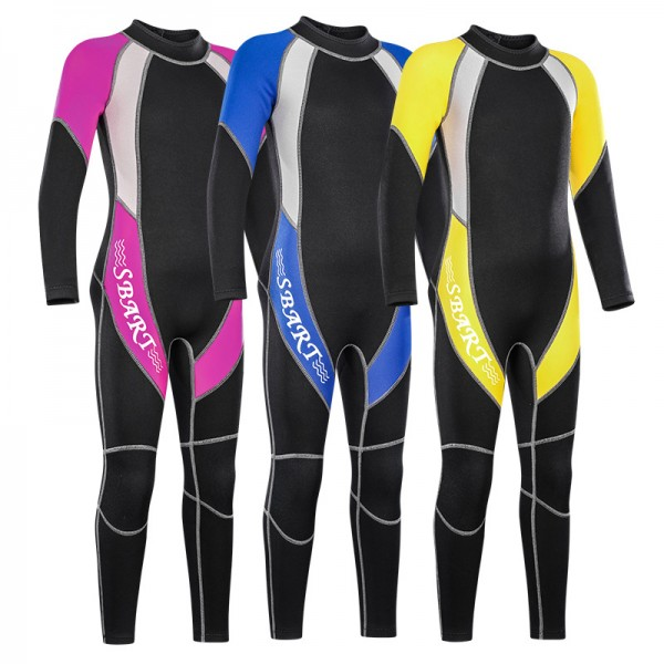Kids Full Body 2MM Wetsuits Warm Diving Neoprene Suit For Teens