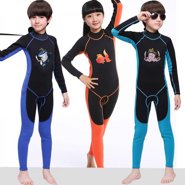 Full Wetsuit 2MM Neoprene Diving Fullsuit Breathable for Boys & Girls