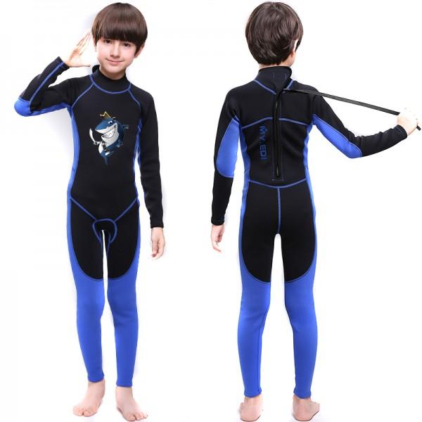 Boys Full Wetsuit 2MM Neoprene Diving Fullsuit for Teens