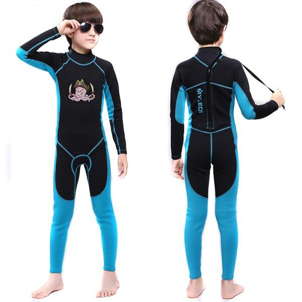 Full Wetsuit 2MM SCR Neoprene Diving Suit High Elasticity Back Zip Plaid