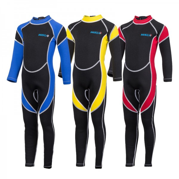 2.5MM Fullsuit Wetsuits Warm SCR Neoprene Diving Suit for Kids