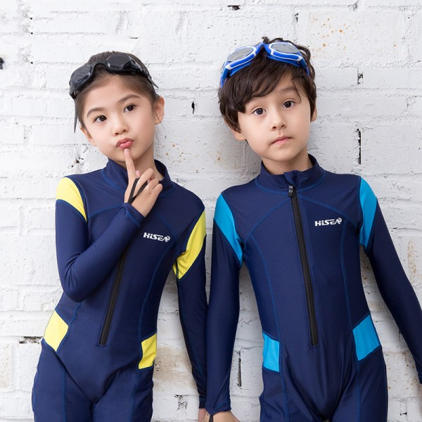 Kids Rash Guard Dive Skin Suit Quick Dry Fullsuit Swimwear