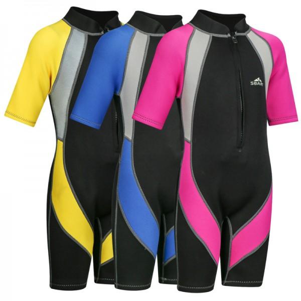Neoprene 2MM Wetsuit for Kids Boys Girls One Piece Swimsuit