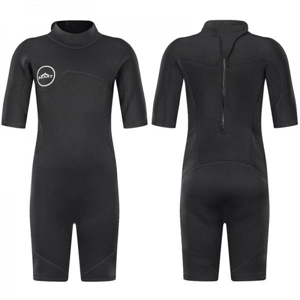 Kids Shorty Wetsuit 2MM Short Springsuit For Diving Swimsuit