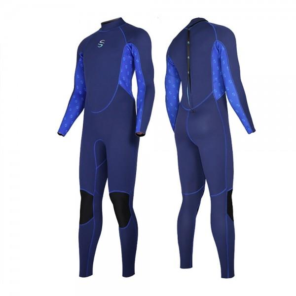 Men's 2MM Neoprene Rashguard Fullsuit Keep Warm Colorblock Diving Suit Wetsuit