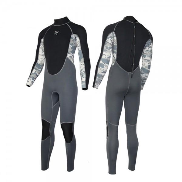 Men's 2MM Neoprene Fullsuit Rashguard Keep Warm Diving Wetsuit
