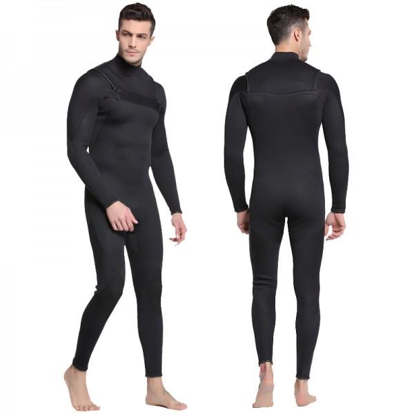 3MM Neoprene Men's Wetsuit Rash Guard Warm Diving Suit Fullsuit Swimwear