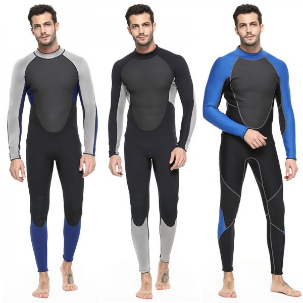 Men's 3MM Neoprene Keep Warm Rash Guard Wetsuit Diving Suit Fullsuit Swimwear
