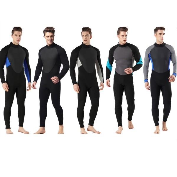 3MM SCR Neoprene Men's Wetsuit Diving Suit Warm Rash Guard Jumpsuit Swimwear