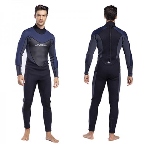 Back Invisible Zip Warm Men Wetsuit 3MM SCR Neoprene Diving Suit Swim Jumpsuit