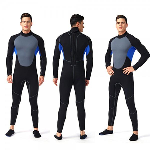 Rash Guard 3MM SCR Neoprene Wetsuit For Men Elastic Swim Diving Suit Jumpsuit