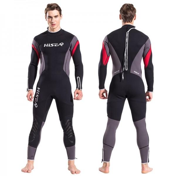 New 2.5mm Men's Neoprene Fullsuit Keep Warm Back Zipper Diving Wetsuit