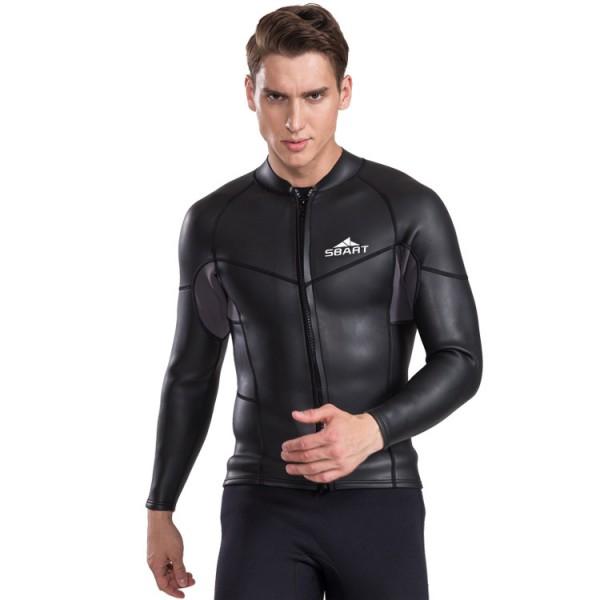 Neoprene Wetsuit Jacket Top for Swimming Snorkeling Surfing