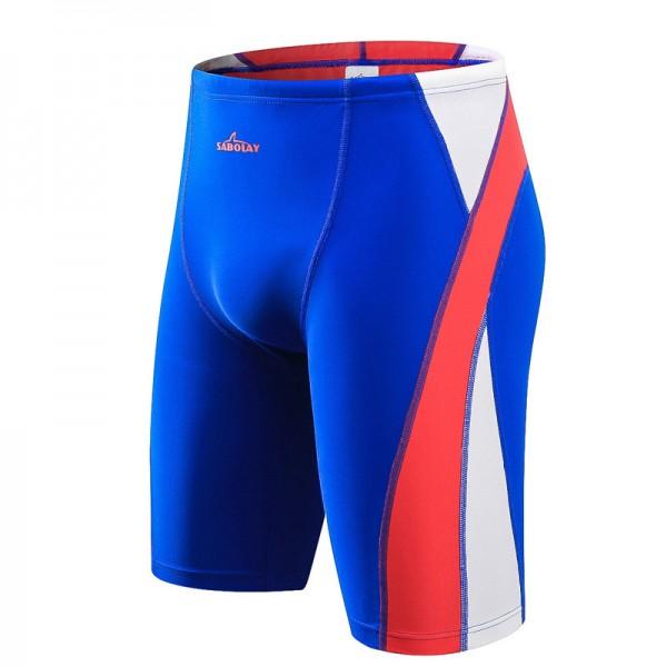 Blue Men's Wetsuit Short Pants for Swimming Rash Guards