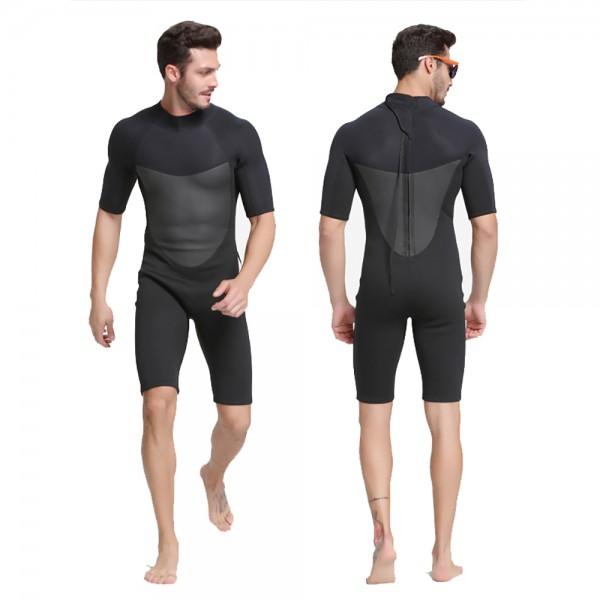 2MM Neoprene Warm Shorty Springsuit Rash Guard Wetsuit Backzip Swimsuit
