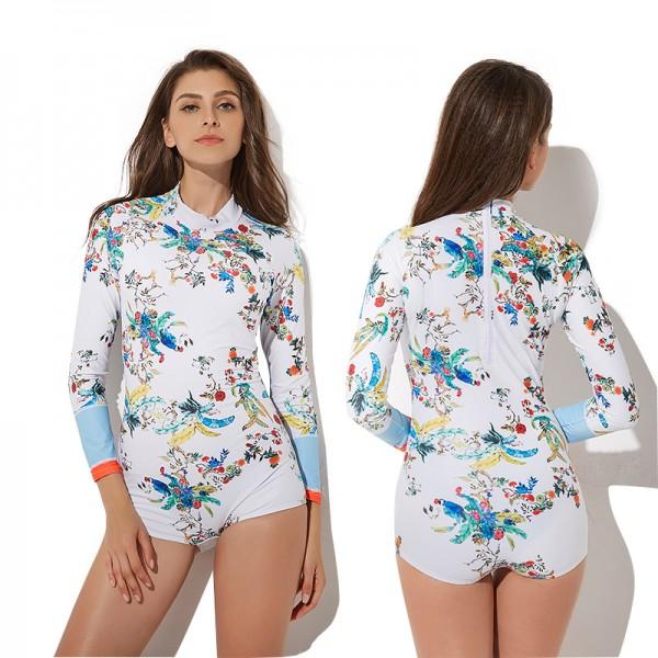Womens Long Sleeve Swimsuit High Neck Bikini Bathing Suit For Women