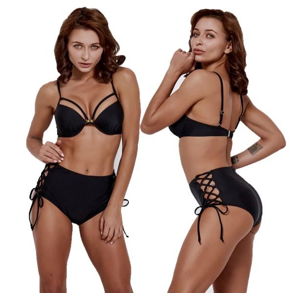 Black Two Piece Bikinis Womens Swimsuit Bathing Suit