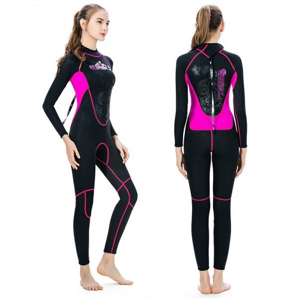 3MM Full Wet Suit For Women Wetsuits SCR Neoprene Keep Warm