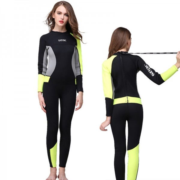 3MM Womens Wetsuits Neoprene UPF 50+ Diving Suit Keep Warm