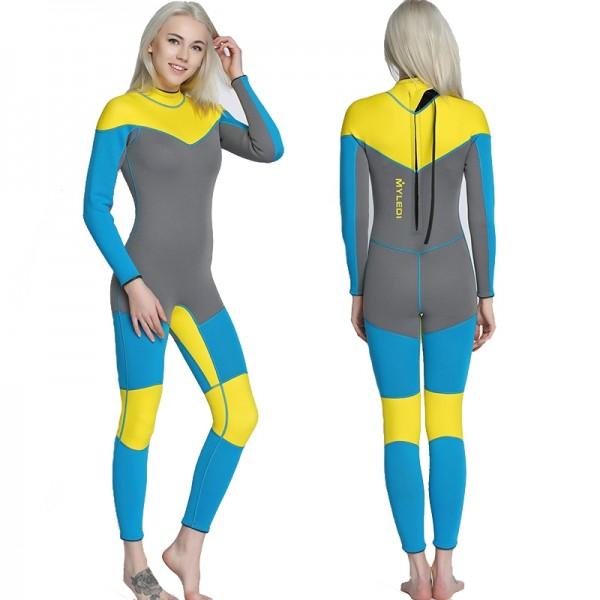 3MM SCR Neoprene Womens Wetsuits Fullsuit Diving Suit