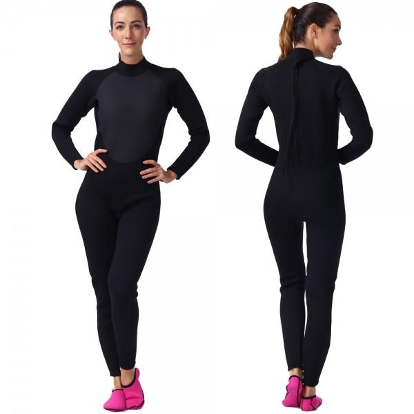 3MM Wet Suit For Women Wetsuits Fullsuit Neoprene Diving Suit