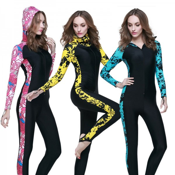Rash Guard Womens Surf Suit Best Wetsuits For Surfing Hooded